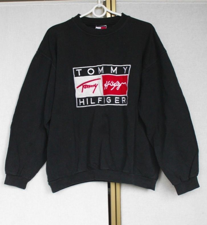 vintage tommy hilfiger sweatshirt sweater jumper m l. Black Bedroom Furniture Sets. Home Design Ideas