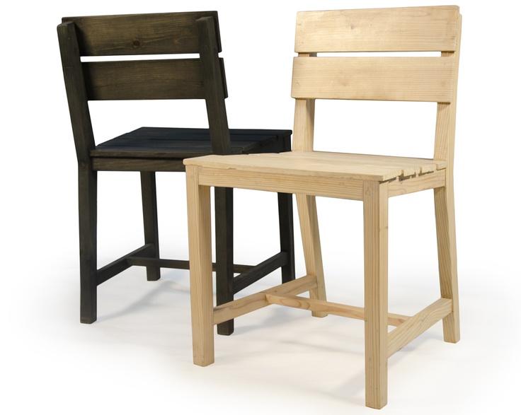 Pallet Wood Chairs Transparent Black & White Finish: Ashley Design