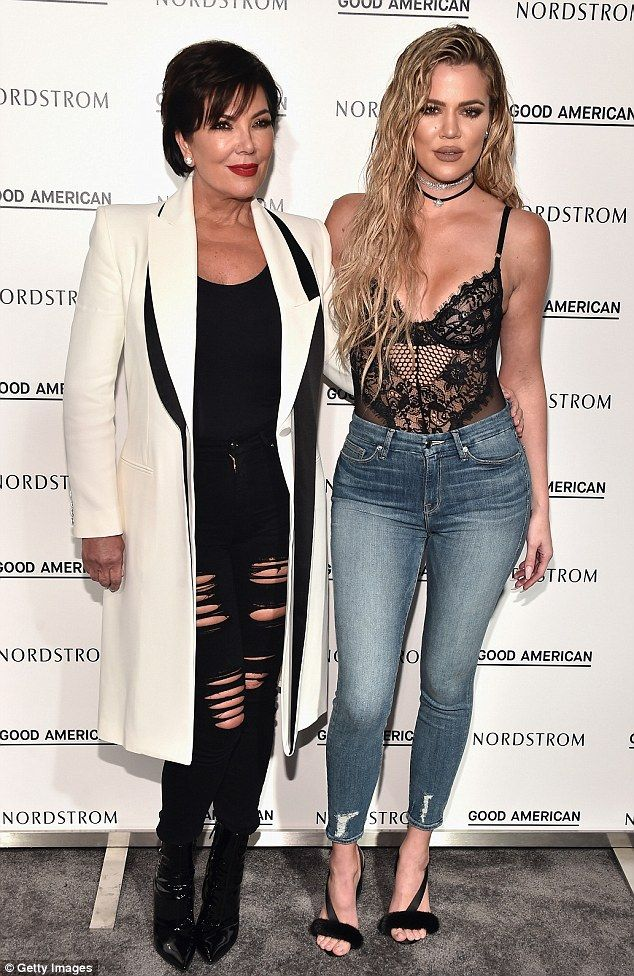 Dynamic duo: She was joined by mother Kris Jenner