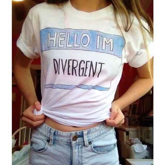 Divergent Shirts 2options by TimeForBows on Etsy, $17.00