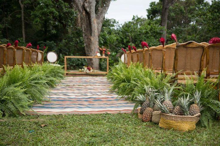 Decoração do casamento com samambaia por Bia Pedrini - Foto Tathi Carvalho Fotografia