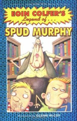The Legend of Spud Murphy by Eoin Colfer When their mother starts dropping them off at the library several afternoons a week, nine-year-old William and his brother, who dread the boredom and the overbearing librarian, are  surprised at how things turn out.