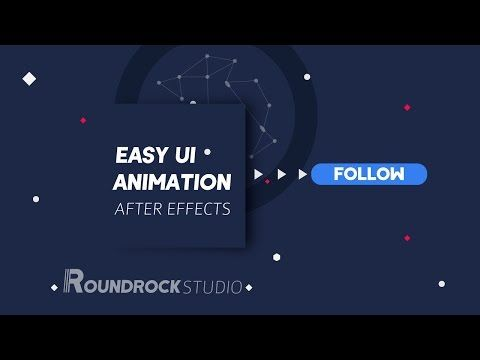 After Effects Tutorial || Easy UI Animation by Roundrock Studio™
