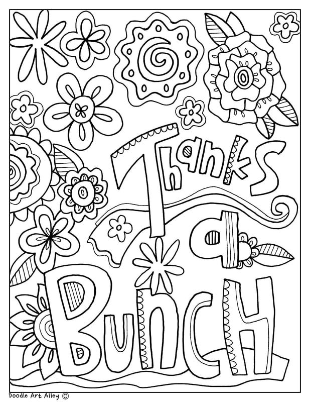Thanks A Bunch Coloring Page Teacher Appreciation Letter