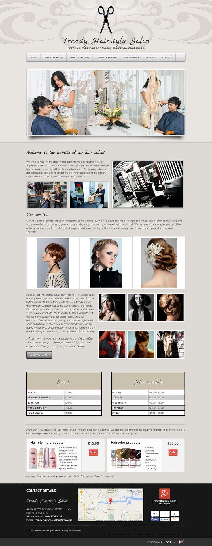 Hairdressing  Website Design