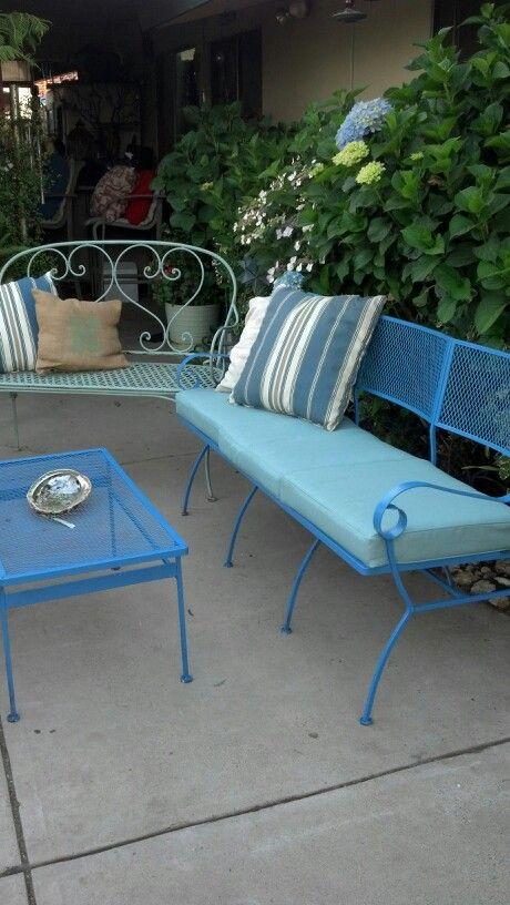 Best  Vintage Patio Furniture Ideas On Pinterest Vintage - Turquoise outdoor furniture