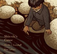 When Shin-chi and his sister go off to his first year of Residential School in a cattle truck, she warns him of all the things he must not do. The days are long, he is very lonely and always hungry, but he find solace down at the river with a gift from his father, a tiny cedar canoe. It seems like a very long time until the salmon swim upriver again and he can finally go home.