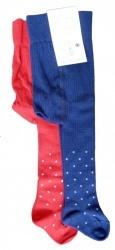 Strumpfhose Rot & Blau Mini TUPFEN Pünktchen * Baumwolle kbA *  grödo
