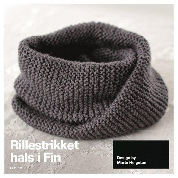Dagens gratisoppskrift: Rillestrikket hals   Strikkeoppskrift.com