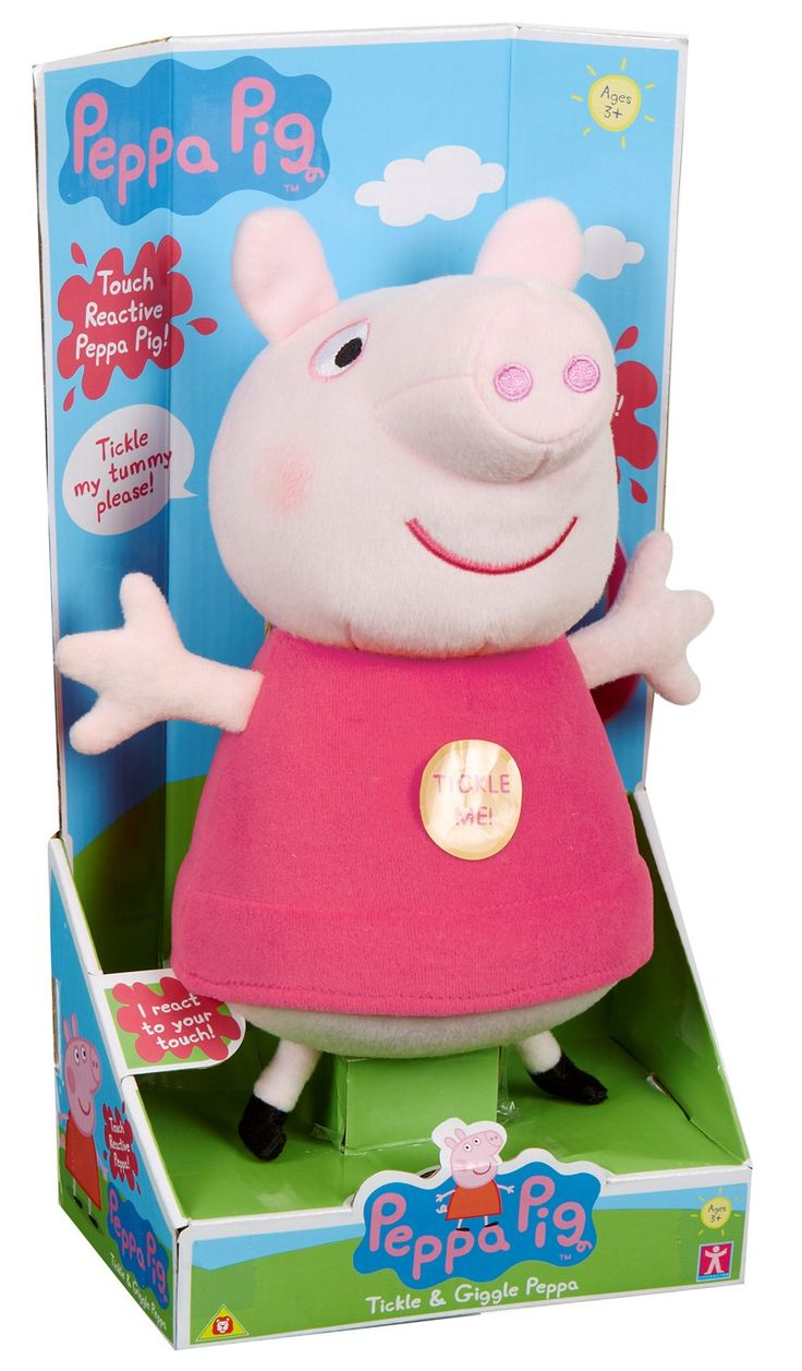 PEPPA PIG TICKLE AND GIGGLE. Have lots of laughs with the Tickle and Giggle Peppa! Just tickle her tummy to hear her giggle! #planetfun #peppapig #toysfortoddlers #planetfunnz