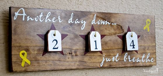 Another Day Down  Deployment Countdown sign  www.vanderportdesigns.com