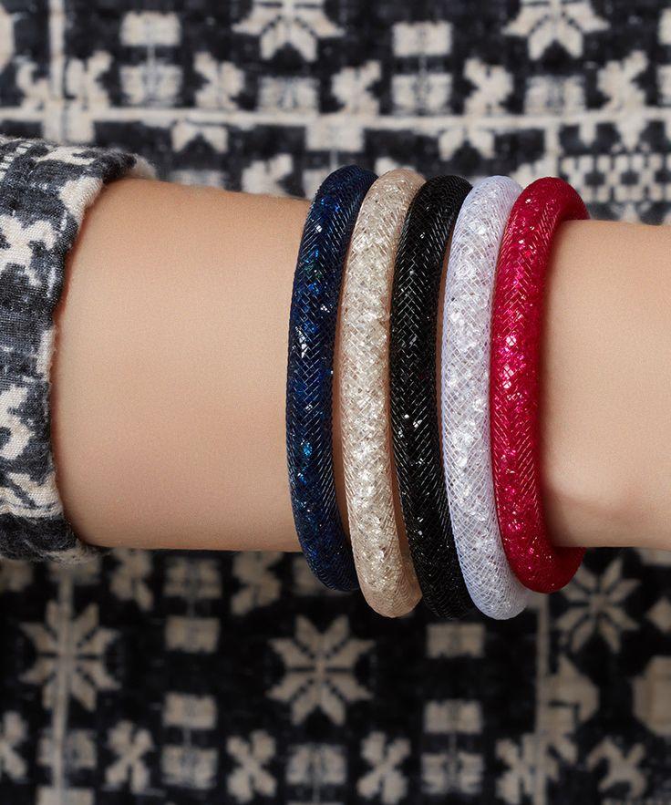 Diamond Style Set of 5 Stardust Ice Crystal bracelets, Designer Jewellery Sale, Steal of the Day: Swarovski Bracelets , SECRETSALES