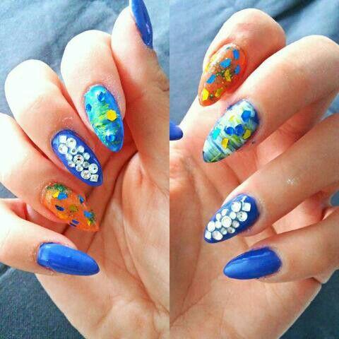 Greek island summer nails #salonderaf
