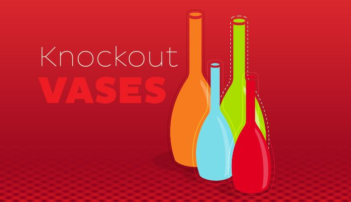 Knockout Vases illustration...Illustrator's Knockout Group Feature