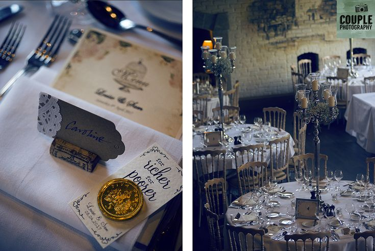 Gorgeous details of the table settings. Weddings at The Cliff at Lyons by Couple Photography.