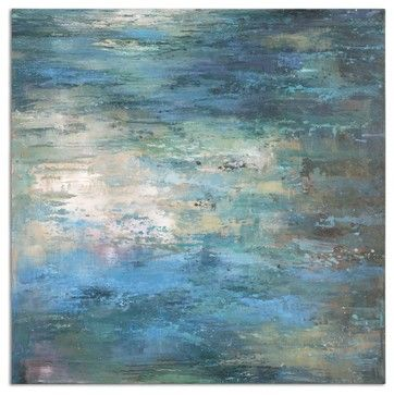 "Uttermost Splish Splash Modern Art - transitional - Mixed Media Art - Uttermost $217.80 40""x40"""