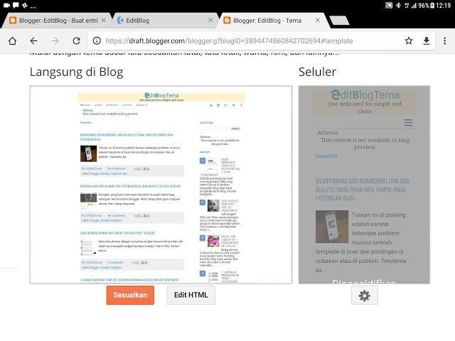 Editblog Cara Menggunakan Template Editblogtema Untuk Dipak Blog Posting Blogger
