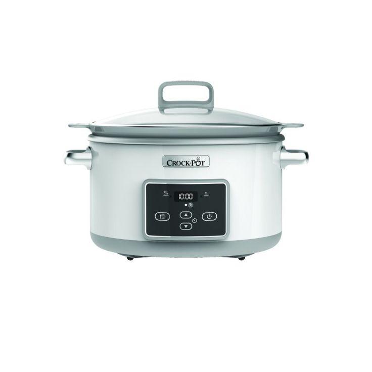 Crock-Pot Slowcooker 5 L Induktion Vit, Crock-Pot, Från 349 kr på Crock-Pot |Kökets Favoriter