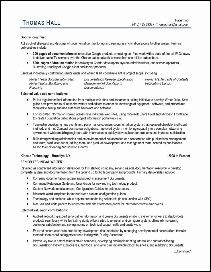 Technical Writer Resume Examples New 20 Best Ideas