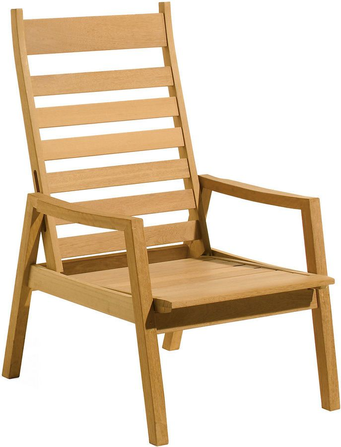 The perfect reclining chair for small balconies or patios, the back and seat slide as a unit, reducing the amount of space needed. Mortise-and-tenon joint construction adds strength and longevity. This reclining armchair is made from shorea, a tropical hardwood that is resistant to rot, bug infestation, and various weather conditions. Furniture > Outdoor Furniture > Outdoor Deck Chairs.
