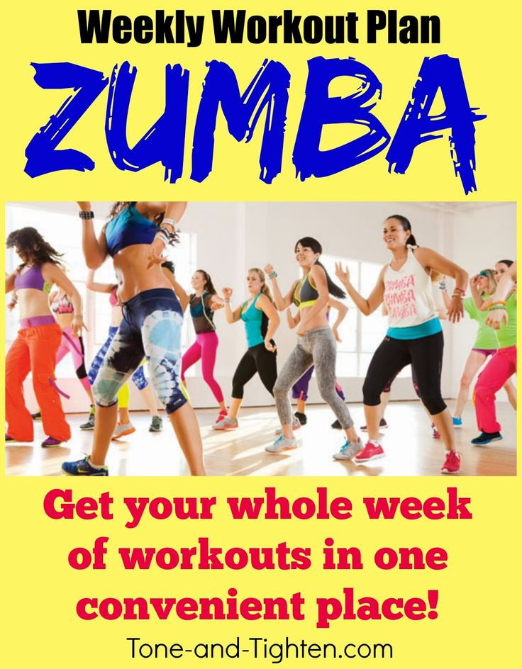 Weekly Workout Plan – The best free Zumba videos to Tone and Tighten - Tone and Tighten