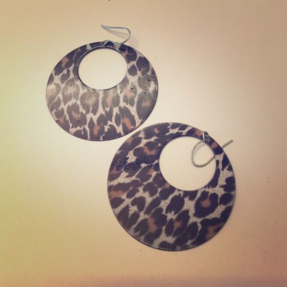 Funky leopard print earrings Funky leopard print earrings. Offers welcome! Jewelry Earrings