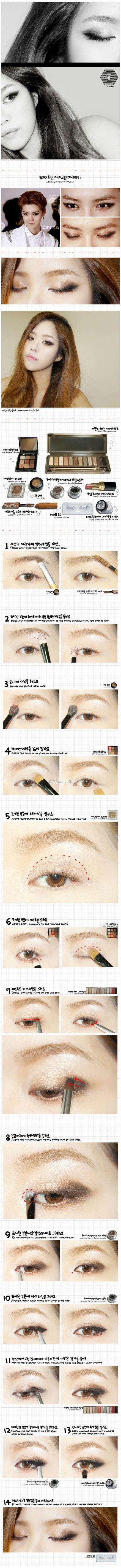 Korean make up exo