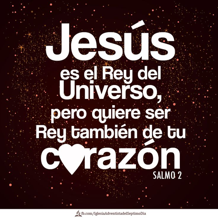 Jesus is the Ruler of the Universe, but He wants to be Ruler of your heart, too.   #salmos #biblia