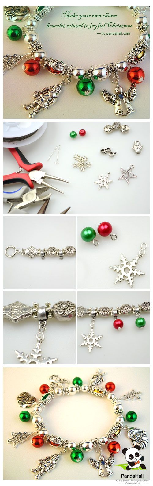 An easy example show you how the project make your own charm bracelet is done! And for the forthcoming Christmas, with this delectable Christmas charm bracelet, you can steal all the spotlights and gather other's envious eyesight with you!
