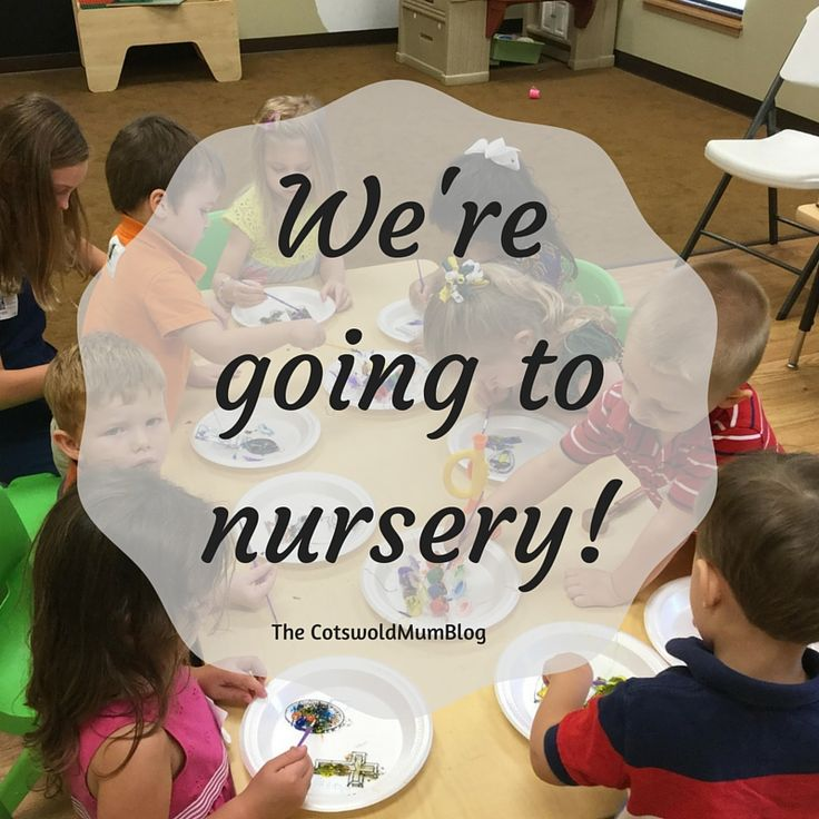 The Cotswold Mum Blog: It's nursery time!