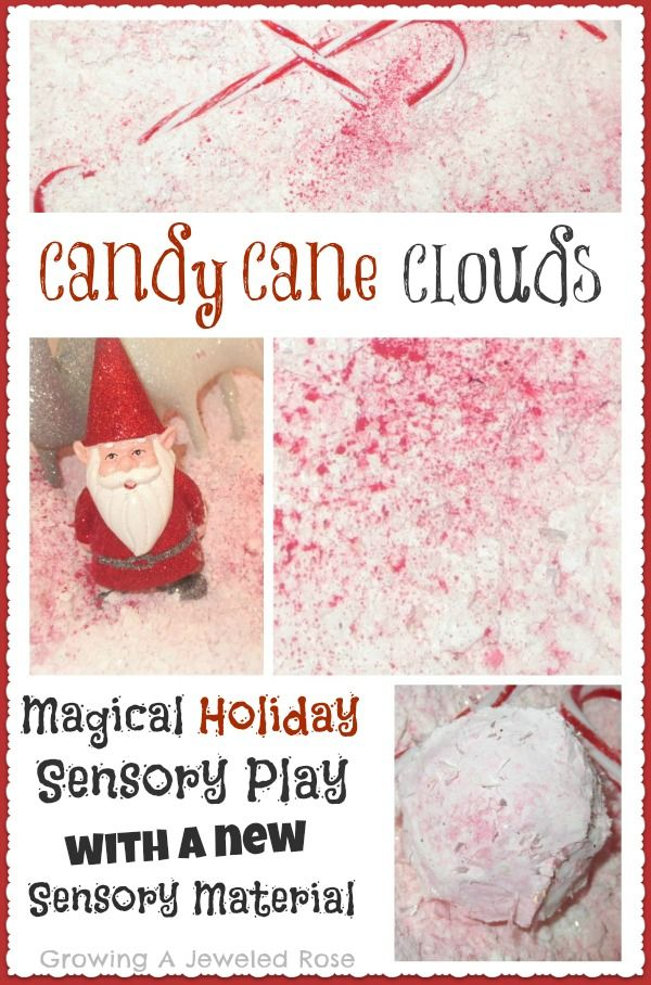 Candy Cane Clouds! Let's little ones imaginations take flight with Santa and his reindeer while exploring a magical sensory material!