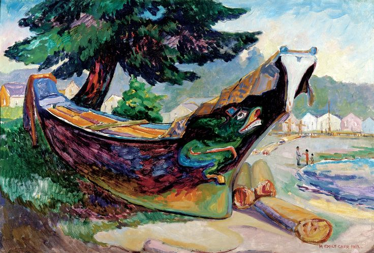 Emily Carr (1871-1945), Canadian / Indian War Canoe (Alert Bay), 1912 / Montreal Museum of Fine Arts