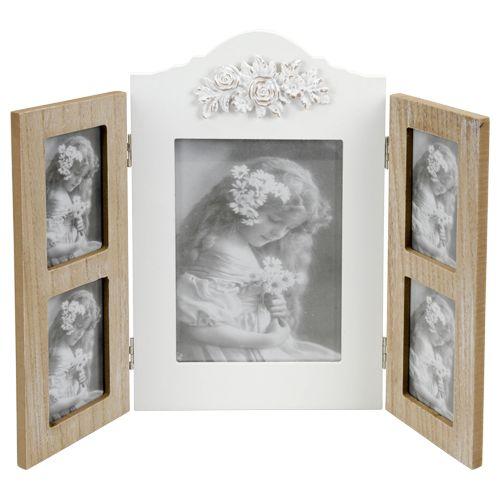 fotolijst met luiken hout 19x17cm