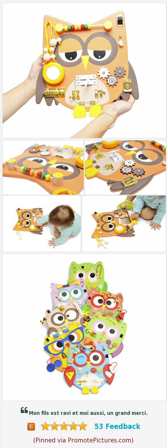 All our Owl busy boards have different sets of developing elements, you can choose the right one for your child. We have many new ideas that we gradually embody and present to you, further interesting. Thank you for being with us! Christmas gift for toddler boy Toddler learning gift Baby gift Busy baby toy Travel busy Sensory board Montessori materials Owl wooden toy https://www.etsy.com/WoodenToysStore/listing/571149007/