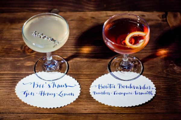 Cocktails: Bee's Knees & Bowtie Boulevardier