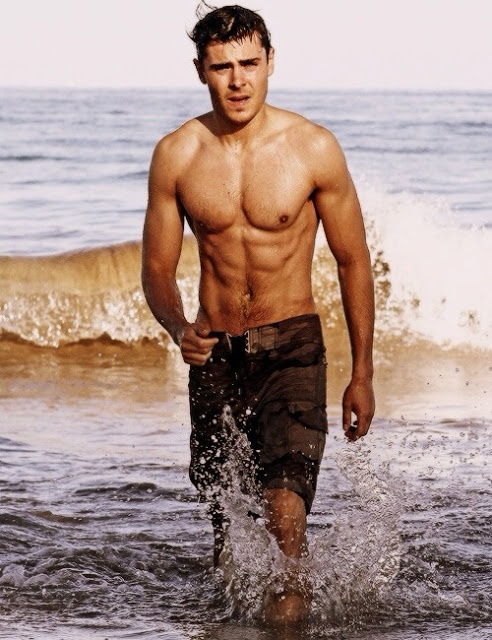 okay Zac, I'm in love with those, I mean you. are abs like that even possible? <3