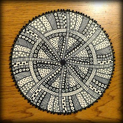 Mandala of zentangles - this is just too cool