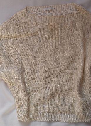 Kup mój przedmiot na #vintedpl http://www.vinted.pl/damska-odziez/swetry-z-dzianiny/7167297-wloski-sweterek-ze-zlota-nitka