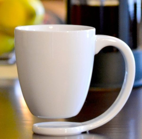 The Modern Cup From the Floating Mug Co. Collects Drips and Acts as a Coaster trendhunter.com