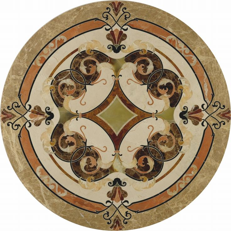 round mosaic; floor medalion