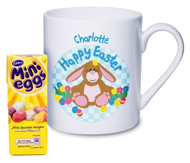 29 best easter gift ideas not just chocolate images on pinterest easter gift ideas personalised happy easter bunny mug childrens easter gift 899 negle Images