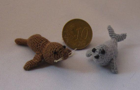 Two cute Seal van MiniMadeCraft op Etsy