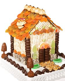 This is for all my friends who celebrate Passover.  Adorable house made of Matzo and kosher food items!!  No more gingerbread house jealousy!!!