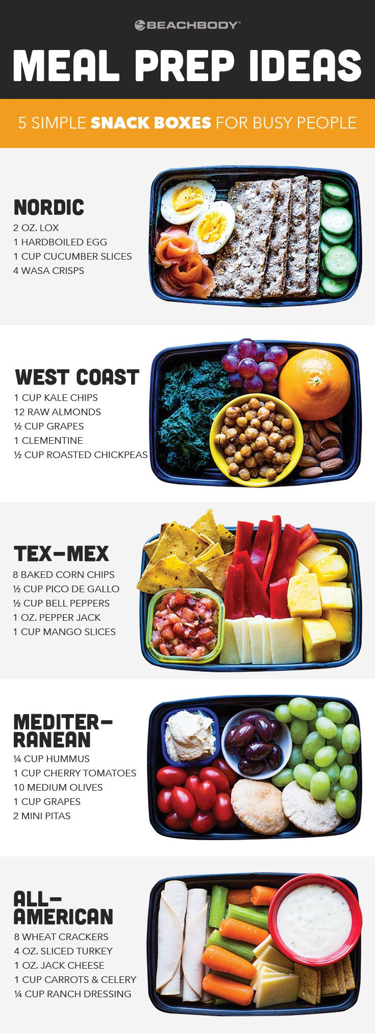 These grab-and-go snack boxes are easy to put together and each one is loaded with protein and fiber to satisfy that mid-afternoon rumble in your tummy.