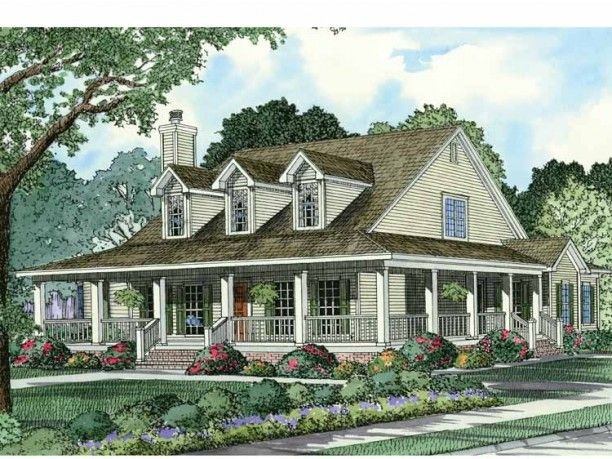 Farmhouse House Plan with 2039 Square Feet and 4 Bedrooms(s) from Dream Home Source | House Plan Code DHSW15187