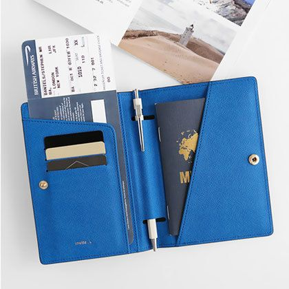 My new passport cover! -> InviteL La route du bonheur passport cover holder