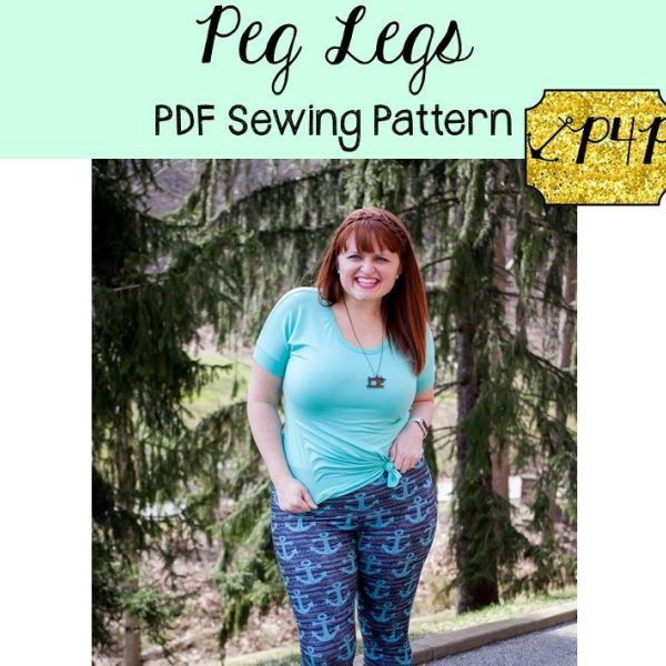 Peg Legs free sewing pattern for leggings