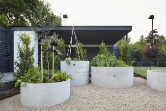 Concrete cylinders are useful planters