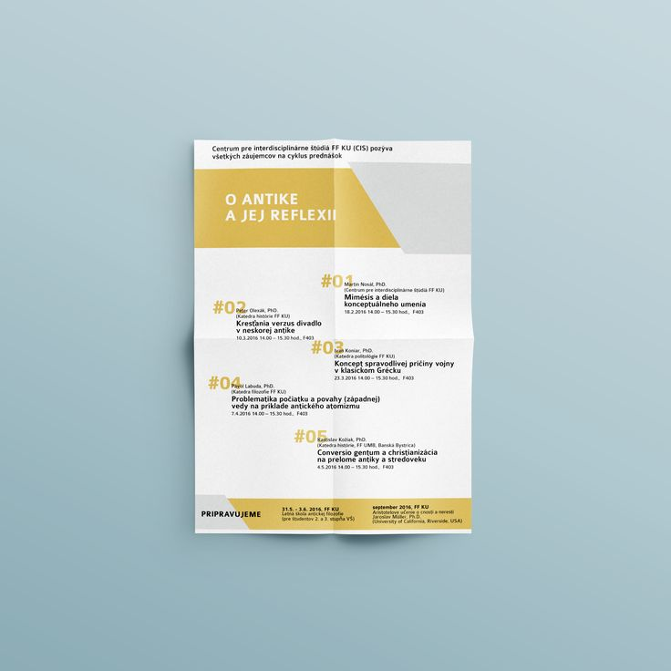 my graphic design portfolio - flyer - o antike