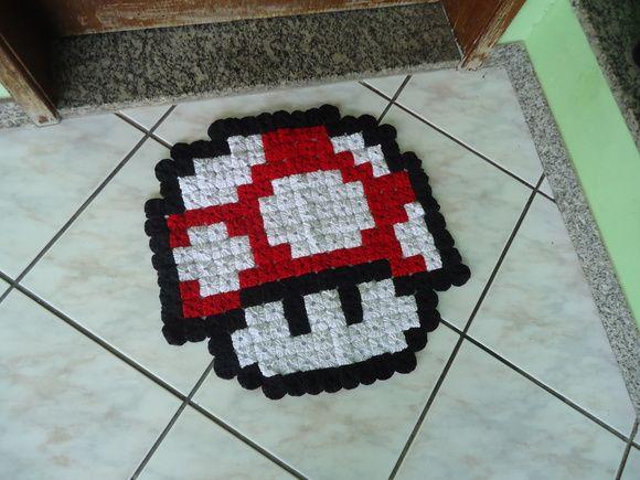 Cogumelo Super Mario Tapete de Fuxico